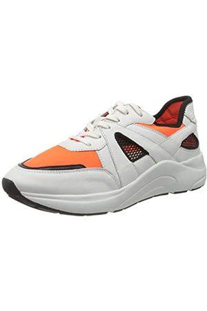 CAPRICE Kiss, Zapatillas para Mujer, (White/Orange 136)