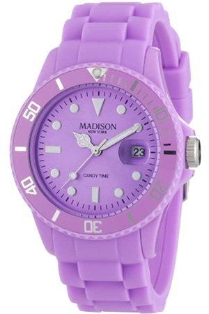 Madison New York Reloj Análogo clásico para Mujer de Cuarzo con Correa en Caucho U4167-24