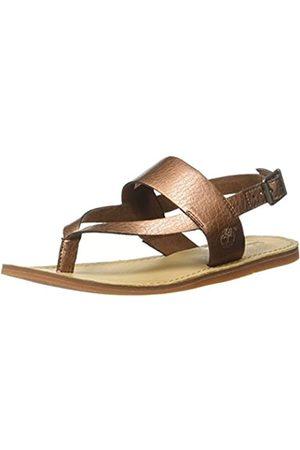 Timberland Carolista Ankle Thongcopper, Sandalias con Cuña para Mujer, (Copper Metallic)