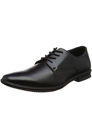 Hush Puppies Cale Plain Toe, Zapatos de Cordones Oxford para Hombre, (Black)