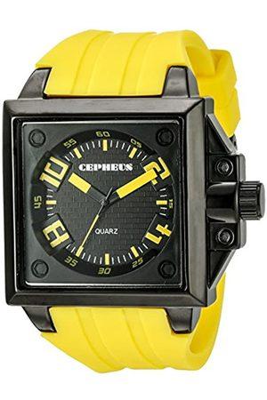 CEPHEUS CP904-629B - Reloj analógico de Cuarzo para Hombre con Correa de Silicona