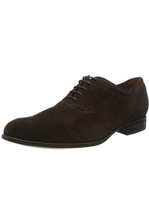Geox U Iacopo A, Zapatos de Cordones Oxford para Hombre, (Dk Brown C6006)