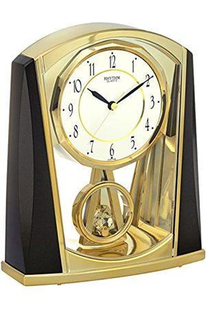 Rhythm 7772 – 9 Suelo Reloj analógico 7772 metálico Gris/Color Dorado