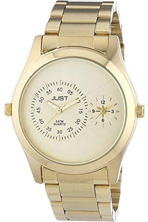 Just Watches 77-GD - Reloj de Cuarzo para Hombre, con Correa de Acero Inoxidable