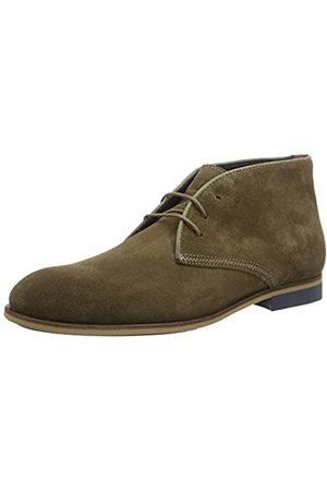 Tommy Hilfiger Casual Dressy Suede Boot, Zapatos de Cordones Oxford para Hombre, (Shitake 012)