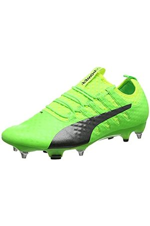Puma Evopower Vigor 1 MX SG, Botas de fútbol para Hombre, (Green Gecko Black-Safety Yellow 01)