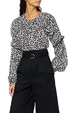 FIND Blusa Estampada con Fruncido para Mujer