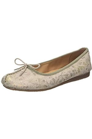 Clarks Freckle Ice, Bailarinas para Mujer, (Taupe Leather Taupe Leather)