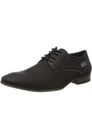 TOM TAILOR 8080101, Zapatos de Cordones Oxford para Hombre, (Black 00001)