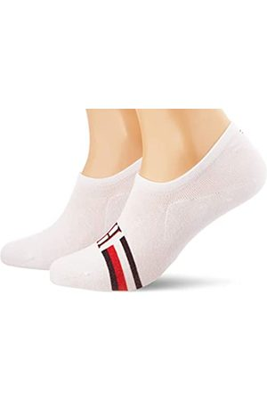 Tommy Hilfiger Hombre Calcetines - TH Men Footie 2p Iconic Stripe Calcetines
