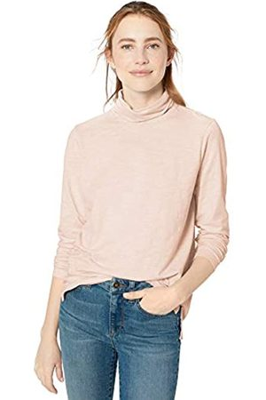 Goodthreads Vintage Cotton Roll-Sleeve V-Neck T-Shirt fashion-t-shirts, Rosado Pink