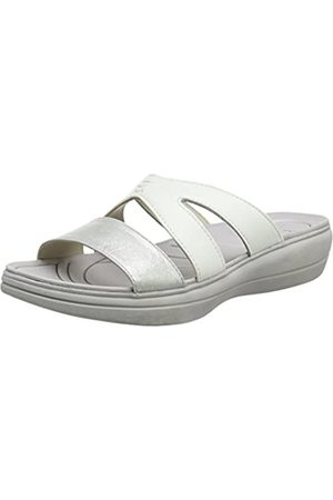 Padders Charlie Mules mujer, (White/Silver)