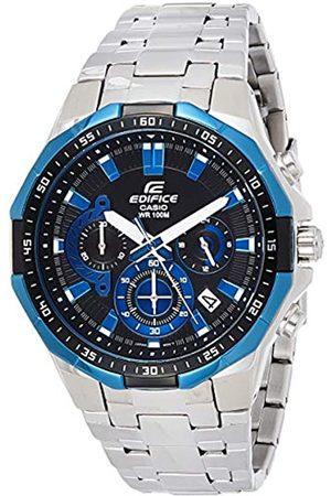 Casio EDIFICE Reloj en caja sólida, 10 BAR/Negro, para Hombre, con Correa de Acero inoxidable