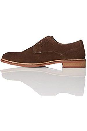 FIND Zapatos de Cordones Derby Hombre, (Brown)