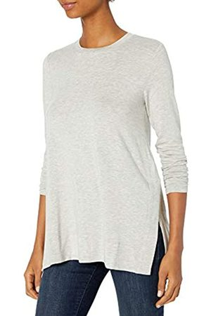 Daily Ritual Long-Sleeve Tunic Sweater with Side Slits Fashion-t-Shirts