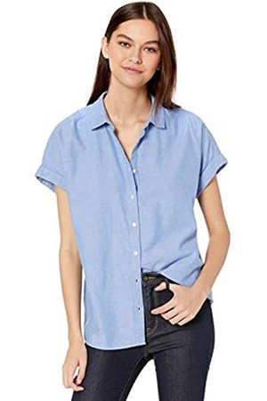 Goodthreads Solid Brushed Twill Short-Sleeve Button-Front Shirt dress-shirts