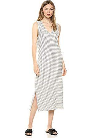 Daily Ritual Marca Amazon - - Vestido de algodón terry súper suave sin mangas con cuello en V, para mujer