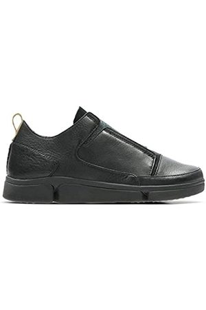 Clarks Tri Pure, Zapatillas para Mujer, (Black Leather-)