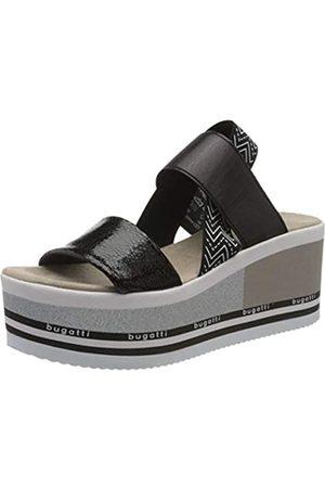 bugatti Mujer Sandalias - 431879805000, Sandalia con Pulsera para Mujer, (Black/White 1020)