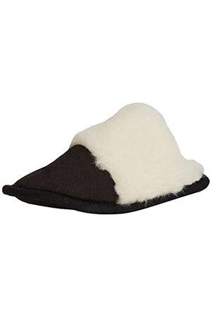 Woolsies Ursa Natural Wool Mule Slippers - Pantuflas con Forro cálido de sintético Mujer, Color