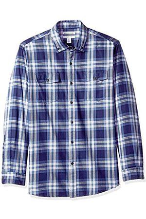 Amazon Essentials Camisa de sarga con dos bolsillos y manga larga para hombre