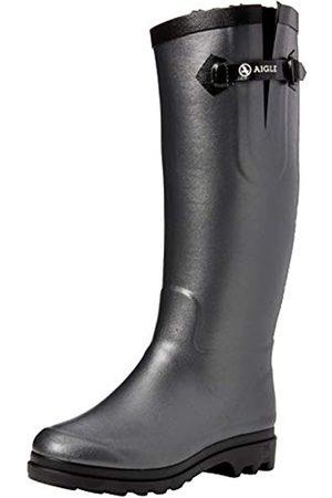 Aigle Ntine Fur, Botas de Agua para Mujer, (Metallic/Noir)