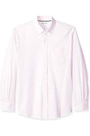 Amazon – Camisa Oxford lisa de manga larga de corte recto para hombre