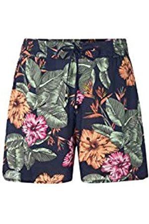 O'Neill LW Montara Drapey Shorts Pantalón Corto para Mujer, Blue AOP w/Pink-Purple