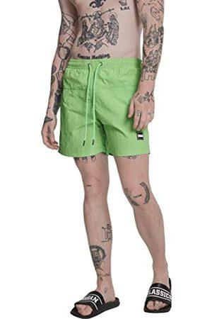 Urban classics Block Swim Shorts Pnt, Pantalones Cortos para Hombre, Verde (Neongreen 00161)