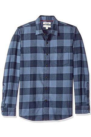 Goodthreads Marca Amazon - - Camisa de franela peinada con manga larga y corte entallado para hombre