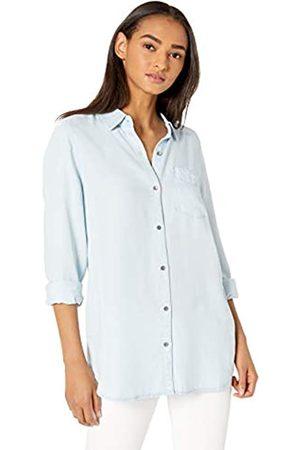 Daily Ritual Marca Amazon - : túnica de tencel y manga larga con botones para mujer.