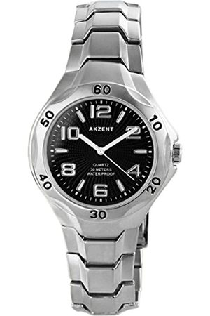 Akzent 90630-RelojparaHombresCorreadeMetalColorPlateado