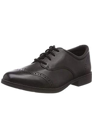 Clarks Sami Walk K, Zapatos de Cordones Derby para Niñas, (Black Leather-)