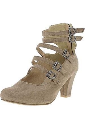 Hirschkogel by Andrea Conti 3004501, Zapatos con Tacon y Correa de Tobillo para Mujer, (Taupe 066)