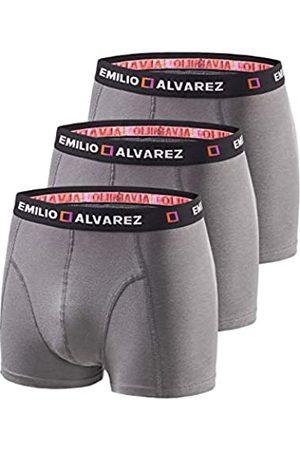 EMILIO ALVAREZ Boxershorts, Gunmetal, 3er Pack, XXL Calzoncillos bóxers, Hombre