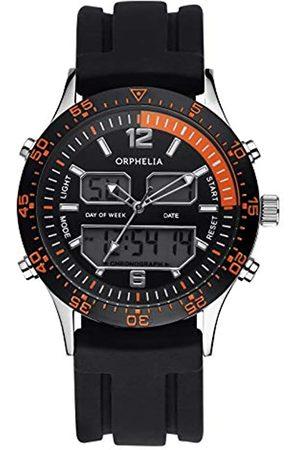 ORPHELIA Reloj analógico-Digital para Hombre de Cuarzo con Correa en Silicona OR22691244