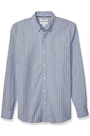 Goodthreads Slim-Fit Long-Sleeve Fashion Stripe Oxford Shirt Button-Down-Shirts, Green Multi