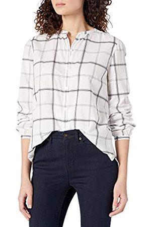 Goodthreads Lightweight Cotton Sleeve-Interest Shirt Button-Down-Shirts, White Windowpane