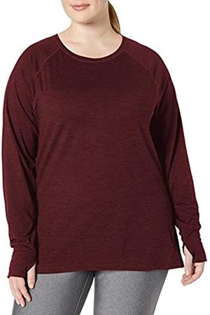 Amazon Plus Size Brushed Tech Stretch Long-Sleeve Crew Fashion-t-Shirts