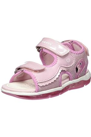 Geox B Sandal Todo Girl B, Sandalias de Punta Descubierta para Bebés, (Pink C8004)