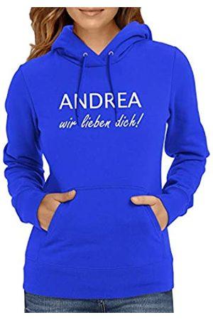 Texlab Andrea Wir lieben Dich Sudadera con Capucha, Mujer