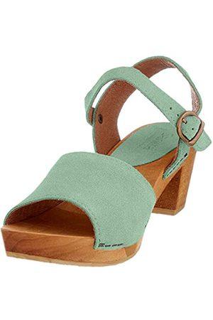 Sanita Menna Square Flex Sandale, Sandalia con Pulsera para Mujer, (Mint 34)