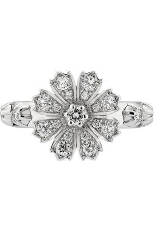 Gucci Anillo Flora 18 K con diamantes