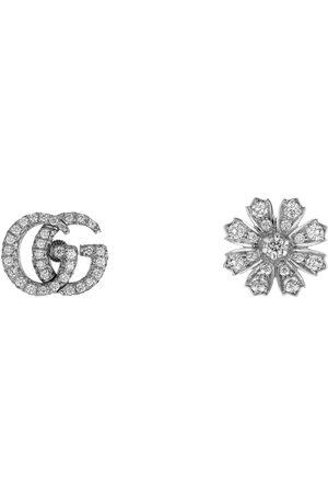 Gucci Pendientes Flora 18 K con diamantes