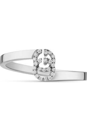 Gucci Anillo 18 K GG Running con diamantes