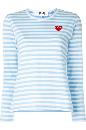 Comme des Garçons Camiseta a rayas con manga larga