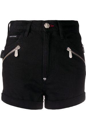 Philipp Plein Pantalones vaqueros cortos con detalles rasgados