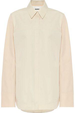 Jil Sander Camisa de popelín de algodón y seda