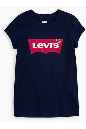 Levi's Niña Camisetas - Short Sleeved Batwing Tee Teenager Teenager / Peacoat/Tea Tree Pink