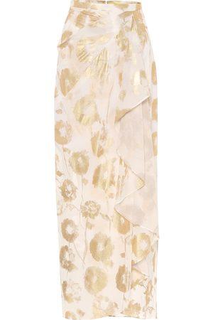 HALPERN Falda wrap de gasa de algodón floral